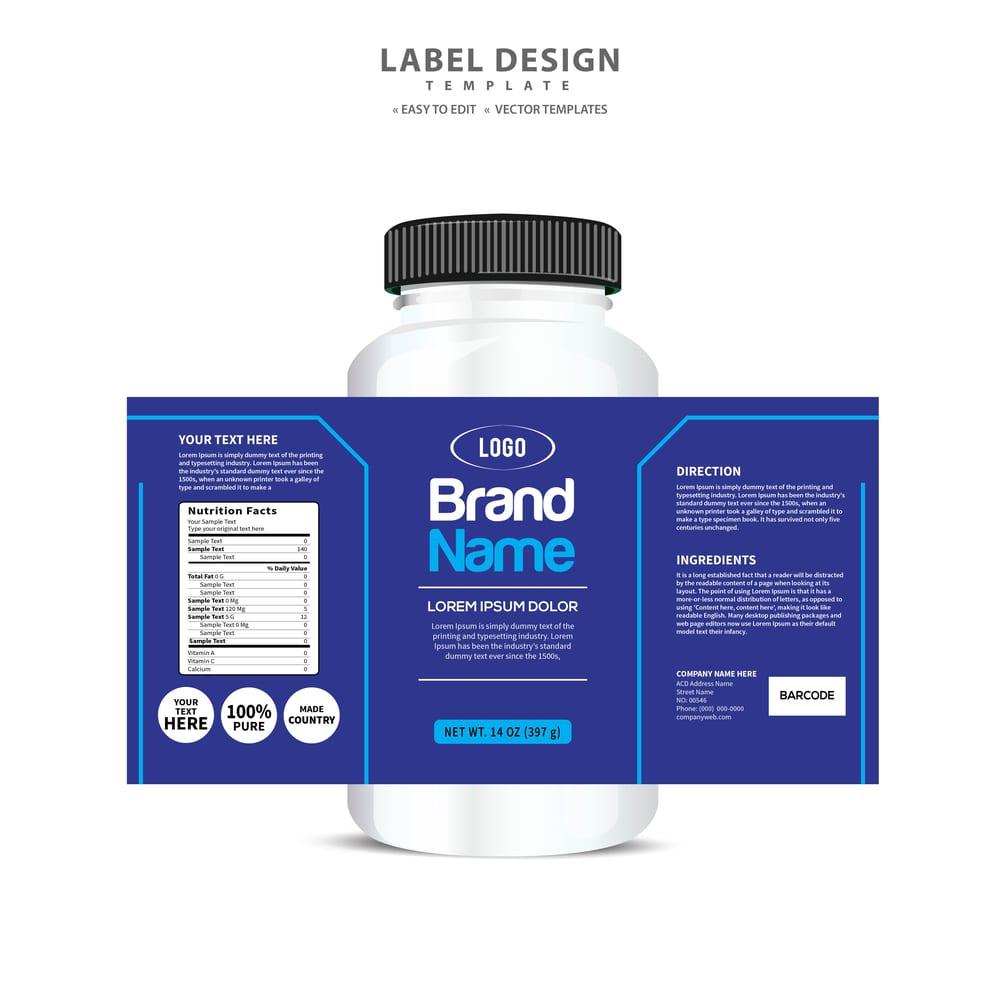 It's just a photo of Nerdy Custom Nutrition Label Generator